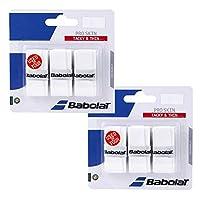 BABOLAT(バボラ) PRO SKINX3 2個セット BA653036-2SET (ホワイト)