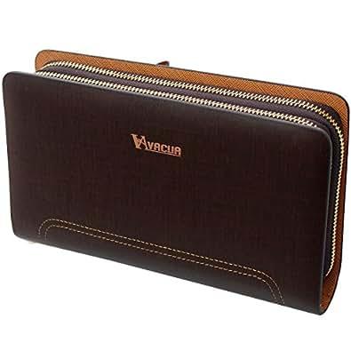 [ヴァキュア] VACUA セカンドバッグ メンズ スペインレザー 牛革 ダブルファスナー VA-001 【ブラウン】