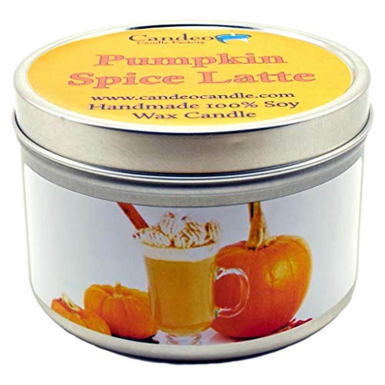 中古煙キャンペーン(180ml) - Pumpkin Spice Latte, Super Scented Soy Candle Tin (180ml)