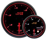 AUTOGAUGE(オートゲージ) 日本製モーター 60mm バキューム計 2色バックライト エンジェルリング ワーニング付 458シリーズ