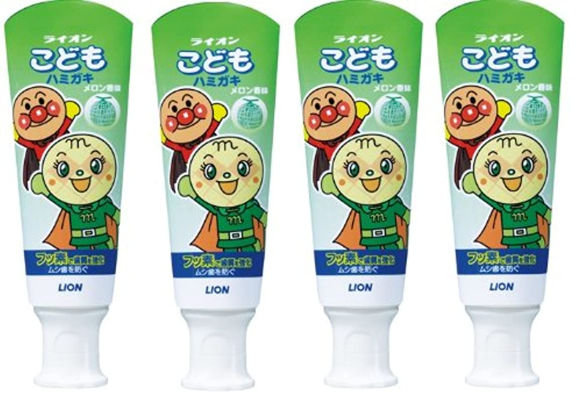 不利広告主識別こどもハミガキ アンパンマン メロン香味 40g×4個パック (医薬部外品)