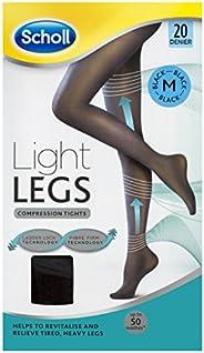 Scholl Light Legs Compression Tights 20 Denier for Tired Legs, Black, Medium
