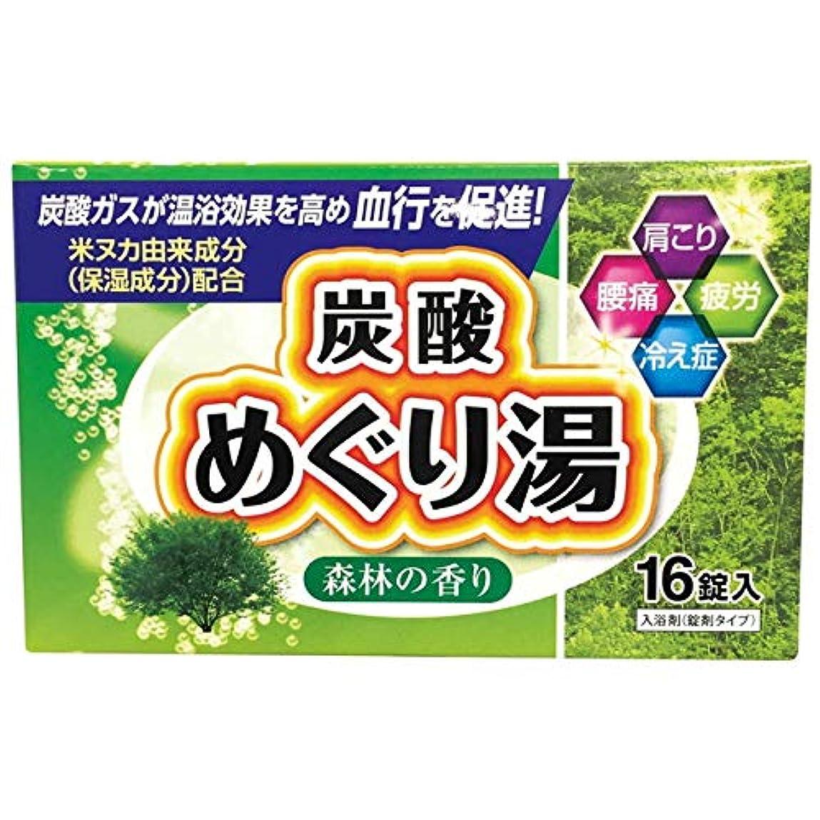 広範囲耐えられるリーガン炭酸めぐり湯 森林の香り 16錠