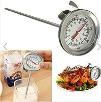 BBQ温度計 調理ツー50-400℃ BBQ 燻製器 喫煙グリル 防水 シルバー ステンレス鋼