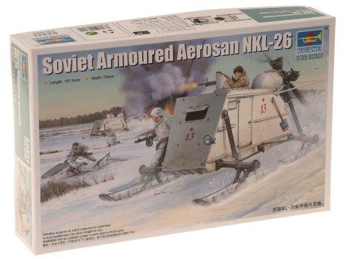 トランペッター 1/35 ソビエト軍 NKL-26 装甲スノーモービル プラモデル