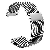 クイックリリースの時計ストラップミラノ磁性ステンレススチール時計バンドの腕時計ブレスレット18ミリメートル(シルバー)