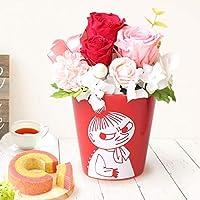 誕生日 の プレゼント バラ おいもやケーキ洋菓子 花とスイーツ プリザーブドフラワー アレンジメント お祝いギフト ム…
