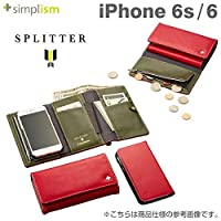 Simplism iPhone 6s[Splitter]フリップノートウォレットケース レッド  TR-FNWIP154-NRD