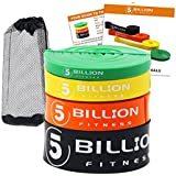 5BILLION Assist Resistance Bands - Set of 4 - Pull Up Bands for Fitness, Mobility, Strength, Power