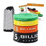 5BILLION 弾性ラテックス抵抗バンド - プルアップ支援テープボディービルのストレッチヨガフィットネスピラティス理学療法モビリティ回復 (4本セット)