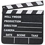NEW HOLLYWOOD CLAPBOARD CLAPPER CLAP BOARD MOVIE SIGN DIRECTOR'S PROP CHALKBOARD 18cm X 20cm