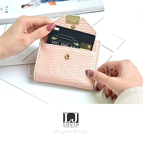 d2db7914068c ... 【LOUJO】 選べる5色 レディース財布 二つ折り ミニ財布 マッドな色合い ファスナー ...