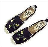 (フルールドリス) スニーカー スリッポン 刺繍 ボタニカル ファッション 婦人靴 ft601-k1-6287b38