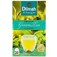 Dilmah茶、セイロン純粋な緑茶、緑茶20カウント箔ラップティーバッグ(パック6)
