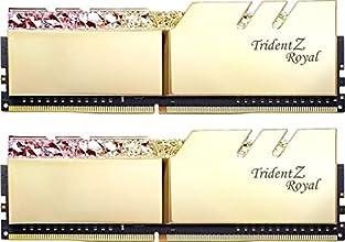 G.SKILL F4-3200C16D-16GTRG [DDR4-3200/8GB x2枚] デスクトップ用メモリ Trident Z Royalシリーズ ゴールド