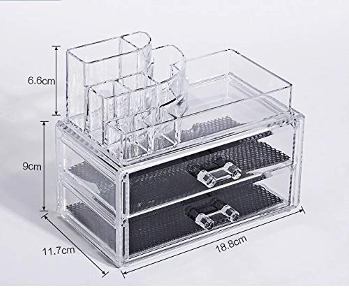 ノベルティ用心するまた明日ね化粧品収納ボックス メイクボックス 化粧品 収納 ニオイなし 騒音なし 防塵 高透明度 強い耐久性