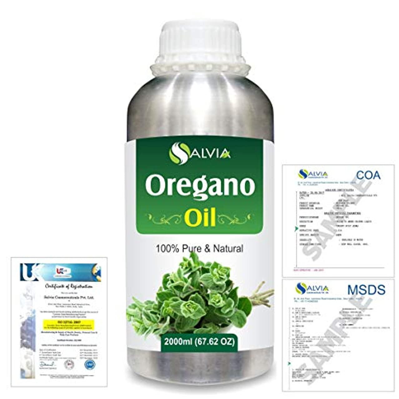 褐色スケジュールフクロウOregano (Origanum vulgare) 100% Natural Pure Essential Oil 2000ml/67 fl.oz.