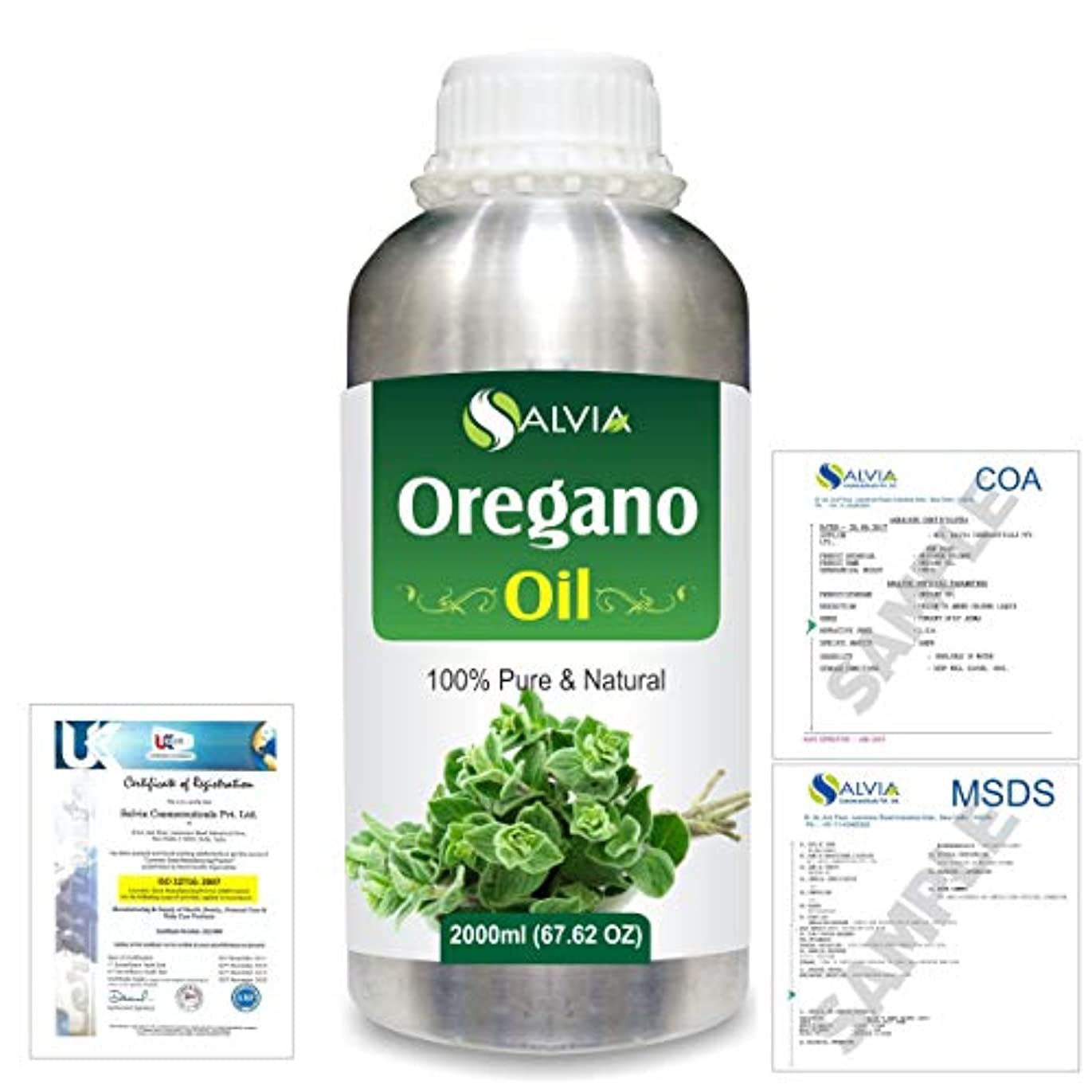 勢いオーバーヘッド要求するOregano (Origanum vulgare) 100% Natural Pure Essential Oil 2000ml/67 fl.oz.