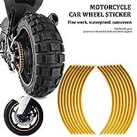 Leobooneオートバイ車のホイールステッカーホイールリングリムリングステッカー変更ホイールステッカー18インチタイヤ反射ステッカー