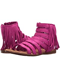 (ミネトンカ) MINNETONKA キッズサンダル?靴 Emery (Toddler/Little Kid/Big Kid) Hot Pink Microsuede 12 Little Kid (18.5cm) M