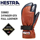 HESTRA(ヘストラ) ヘストラ スキーグローブ ミトン ゴアテックス 3-FINGER GTX FULL LEATHER/Brown/Navy(33882-750280)(16-17 2017)hestra スキーグローブ 8