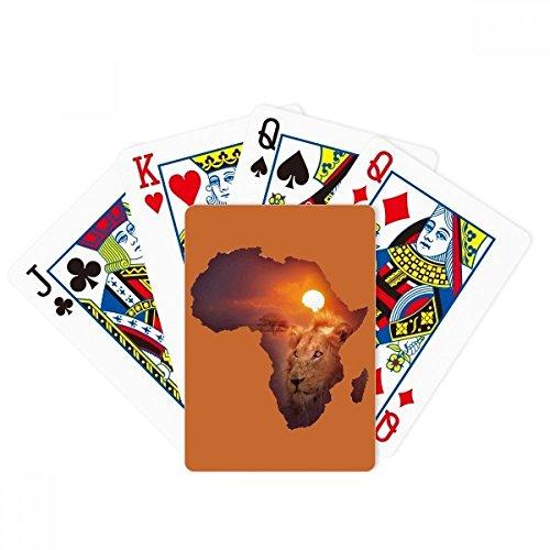 beatchongライオンアフリカ大陸Prairie名マップPoker PlayingカードTabletopボードゲームギフト