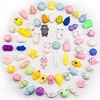 ミニ動物Squishy、beyumi 15個Kawaii Cute Soft Squishy伸縮性玩具ミニ動物手おもちゃStretchy Healing応力Reliever