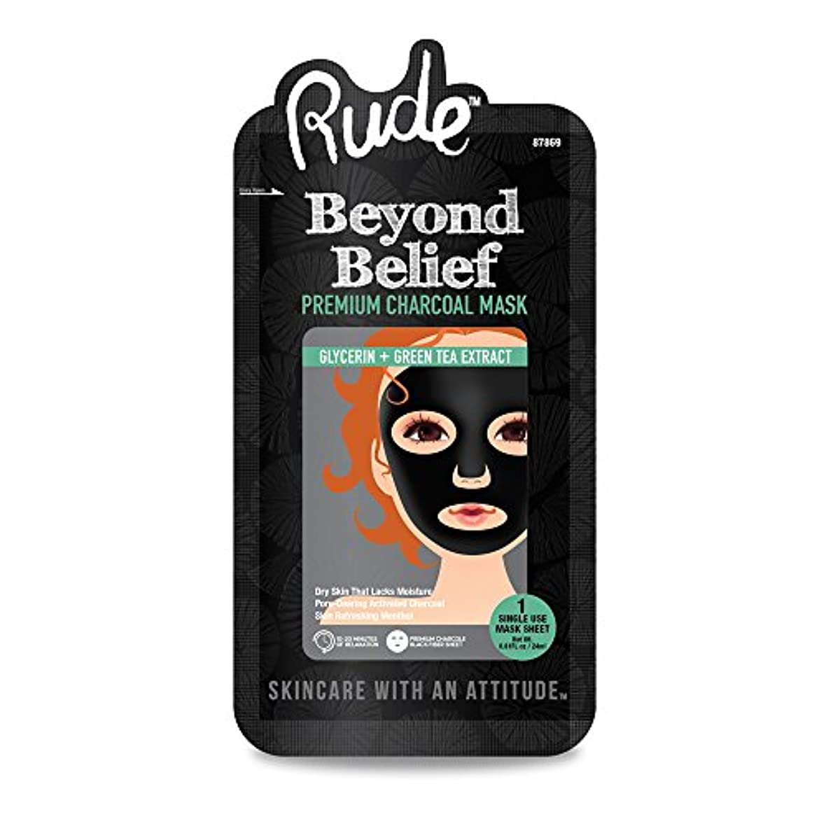 (3 Pack) RUDE Beyond Belief Purifying Charcoal Face Mask (並行輸入品)