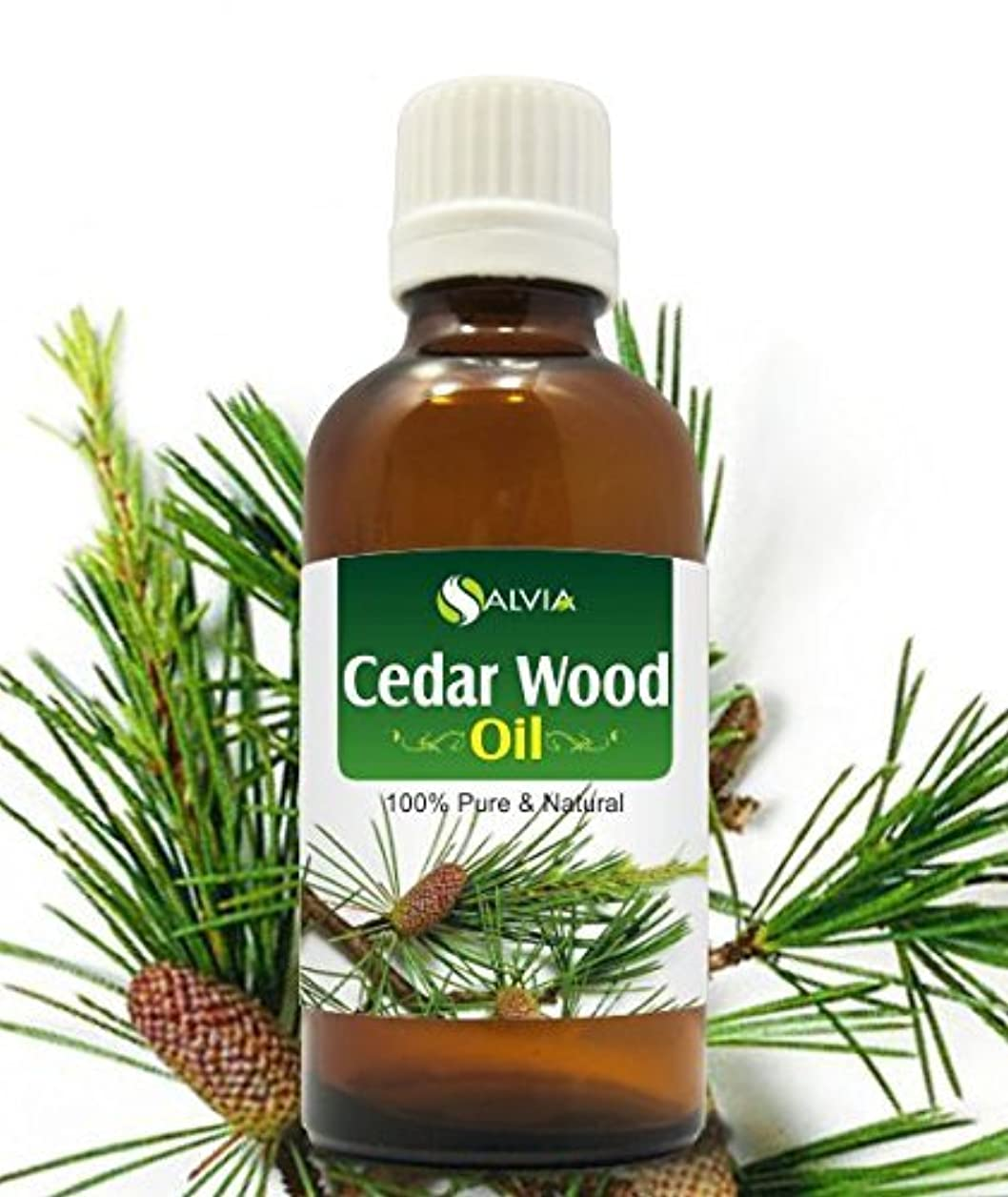 欺くオフセット底CEDAR WOOD OIL 100% NATURAL PURE UNDILUTED UNCUT ESSENTIAL OIL 15ml by SALVIA