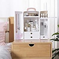 化粧オーガナイザーちり止めの世帯の携帯用開閉可能な構造のオルガナイザーの多機能の化粧品の収納箱、大きい容量