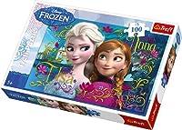 Trefl Disney Frozen Anna and Elsa Puzzle (100 Pieces) [Floral] [並行輸入品]