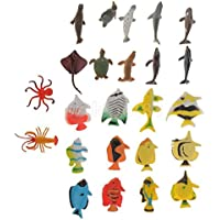 24pcs Marine動物カラフルな海洋生物ドルフィンAngel Fishモデルおもちゃ