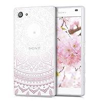 kwmobile Sony Xperia Z5 Compact 用 ケース - スマホカバー - 携帯 保護ケース 薄ピンク白色透明