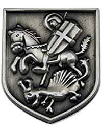 "St. George Slaying The Dragon Antique Finish Freemasonic Lapel Pin - 3/4"" Tall"