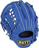 ZETT(ゼット) 少年 ソフトボール デュアルキャッチ グラブ (グローブ) オールラウンド ピッチャー 内野手 外野手 左投げ用 ブルー(2300) BSGB75830