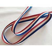 3色サスペンダーベルト フランス国旗カラー 巾24mm 伸縮性なし 10M巻