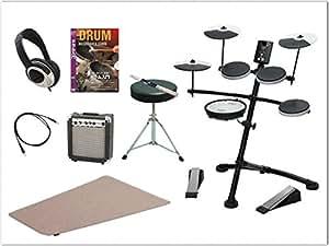 Roland(ローランド)V-drums コンパクト電子ドラム TD-1KV-5SET(小型アンプ、教則DVD、マット、ヘッドフォン、椅子、スティック、外部機器接続ケーブル)