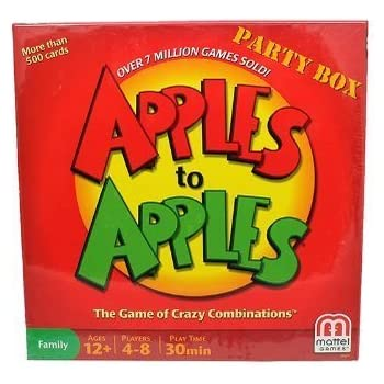 NEW /& SEALED APPLES TO APPLES PARTY BOX FAMILY FUN GAME NIGHT CRAZY COMBINATIONS