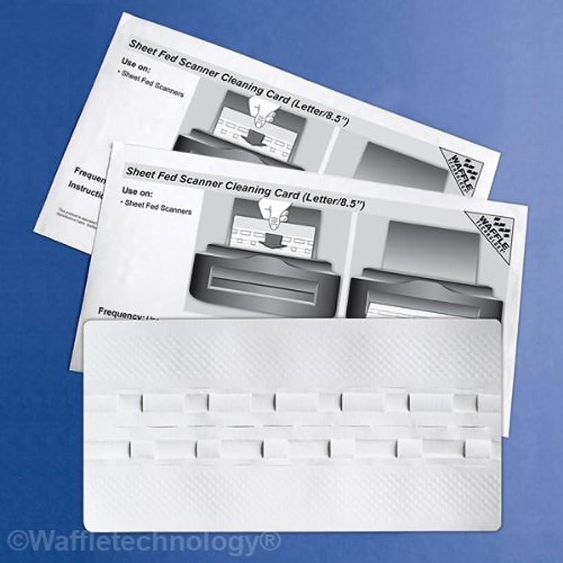 本土租界口径Waffletechnology シート フェッドスキャナー クリーニングカード 15枚入り (KW3-SFS1B15WS)
