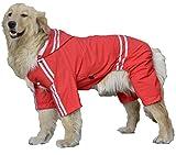 (willmatch) 大型犬 中型犬 用 レインコート レインポンチョ a203 (レッド, 6XL)