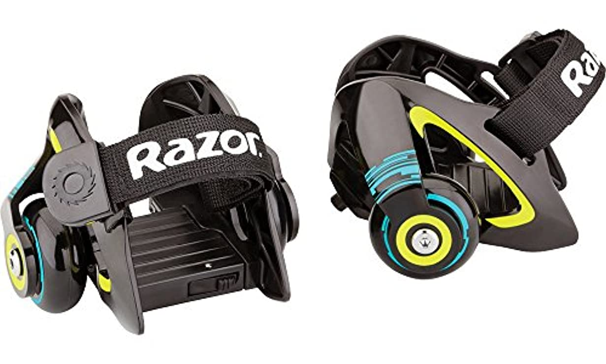 胴体含める応援するRazor Jetts Heel Wheels - Green