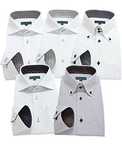 グリニッジ ポロ クラブ 長袖ワイシャツ5枚セット 豊富な7サイズ pf 033-L
