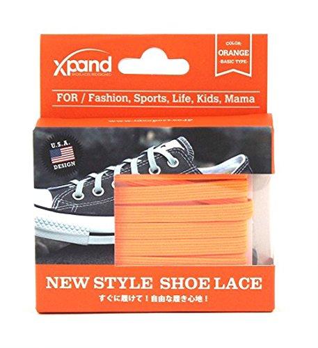 XPAND(エクスパンド) 結ばない ほどけない 画期的な 靴ひも シューレース オレンジ XP-008 オレンジ