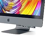 Satechi アルミニウム Type-C クランプハブ Pro  USB-C データポート, 3 USB 3.0, Micro/SDカードリーダー (2017 iMac Pro, iMac Retina 4K, 27インチ5K用) (スペースグレイ)