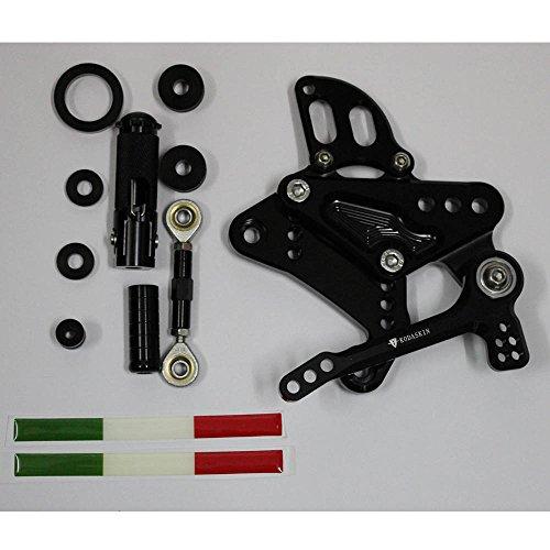 pro-kodaskin CNCビレットFootrests Rearset背面セットFootpegsフィットfor Ducati Diavel 111213141516 ブラック KO-DIAVEL-F-001-B