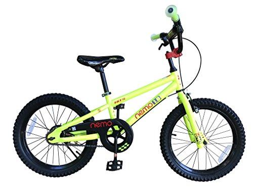 HITS(ヒッツ) Nemo 子供用 自転車 フロントキャリパーブレーキ リア バンドブレーキ 児童用 バイク 18インチ ハンドブレーキモデル 男の子にも女の子にもぴったり 6歳 7歳 8歳 9歳 10歳 (イエロー)