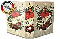 バインダー 2 Ring Binder Lever Arch Folder A4 printed Love Kills