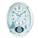 SEIKO CLOCK (セイコークロック) 掛け時計 アナと雪の女王 電波 アナログ 5曲メロディ 飾り振り子 Disney Time(ディズニータイム) 白パール FW578W