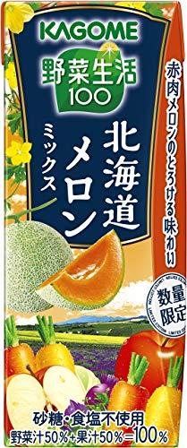 カゴメ 野菜生活100 プレミアム 北海道メロンミックス リーフパック 195ml ×24本