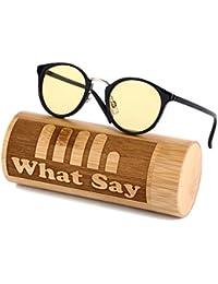What Say ゴールドブリッジ クラシックフレーム カラーレンズ サングラス クリアレンズ 伊達メガネ 全12色 アジアンフィット トレンド UV400 メンズ レディース ソフト & ハードケース 付